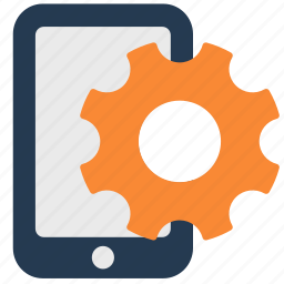 android, gear, iphone, phone, settings icon