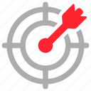 aim, bulleye, objective, target icon