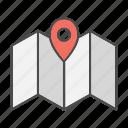 location, maps, pin, seo, tagging icon