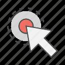 click, cursor, mouse, pointer, seo, target icon