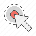 click, cursor, mouse, pointer, seo, target