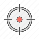aim, goals, market, seo, sniper, target, targeted icon