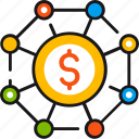affiliate, business, dollar, group, interaction, marketing, money icon