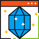 clean, code, coding, development, diamond, programming, website icon
