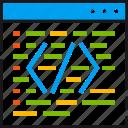 code, coding, development, improve, optimization, programming, website icon