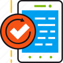 approve, efficiency, improve, mobile, optimization, phone, smartphone icon