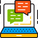 chat, communication, consulting, help, message, online, service icon