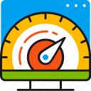 efficiency, fast, performance, pointer, result, speed, webpage icon