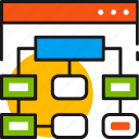 blocks, connection, navigation, sistemap, structure, system, webpage icon