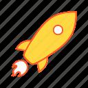 rocket, satellite, space icon