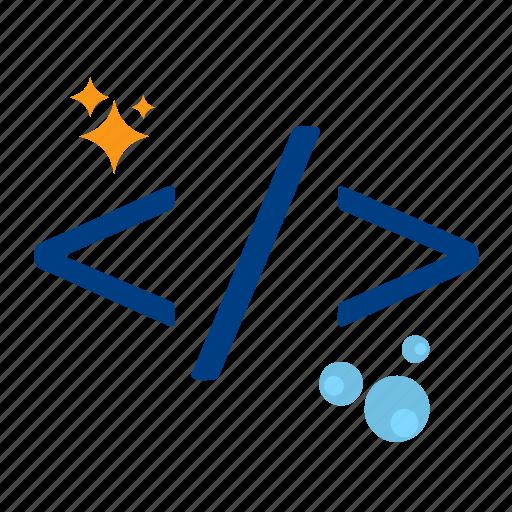 clean, code, coding, development, optimization, programming, seo icon