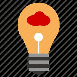 brain, bulb, creative, idea, lamp, power, thinking icon