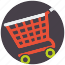 basket, cart, commerce, ecommerce, mobile marketing, sale, seo icons icon