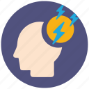 brain, brainstorming, communication, creative, idea, mind, strom icon
