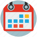 appointment, calendar, event, plan, schedule, timetable, web design icon