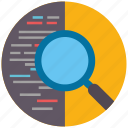 code, find, magnifier, optimization, search, seo, zoom icon