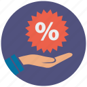 coupon, discount, ecommerce, promotion, shop, shopping, tag icon