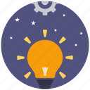 bulb, creative, creativity, idea, innovation, mind, think icon