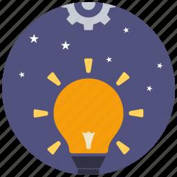 bulb, creative, creativity, idea, innovation, mind, think icon