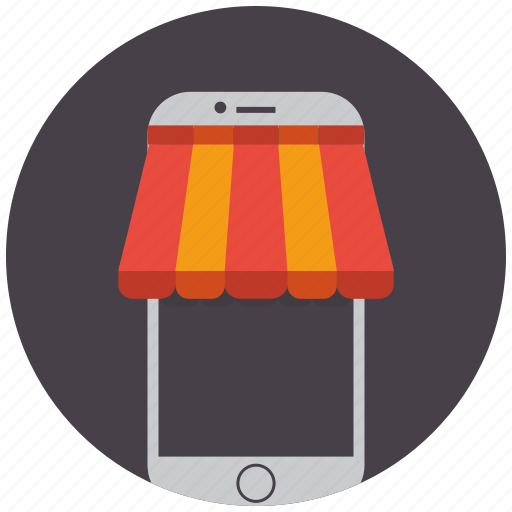 ecommerce, market, mobile, phone, seo services, shopping, smartphone icon