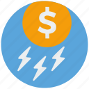 bank, cash, dollar, finance, money, payment, rain icon