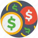 business, cash, dollar, financial, money, payment, set icon