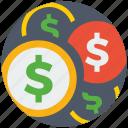 business, cash, dollar, financial, money, payment, set icon