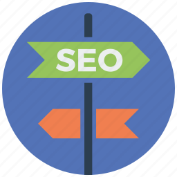 direction, location, marketing, navigation, pointer, seo, seo services icon