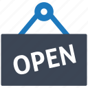 e-commerce, finance, healthcare, illustration, open, seo, shop icon