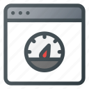 browser, network, speed, speedometer icon