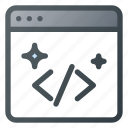 clean, code, coding, good, seo, shine icon