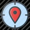 geo, seo, tag, target, targeting icon