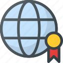 badge, global, page, quality, rank, seo icon