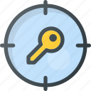 find, keyword, search, seo, tracking icon