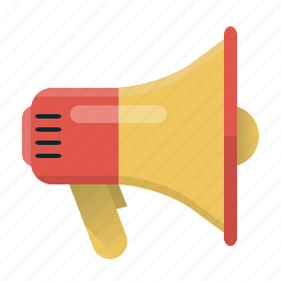 advertising, loud, loudspeaker, marketing, megaphone, speaker, viral marketing icon