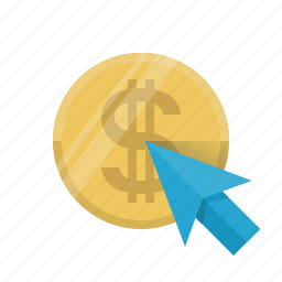 buy, click, coin, e-commerce, money, pay, pay per click icon