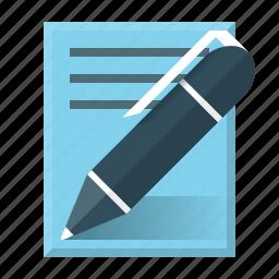 authoring, blog, copyright, copywriting, note, pen, write icon