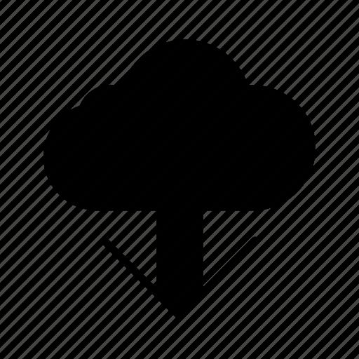 arrow, direction, download, guardar, save icon