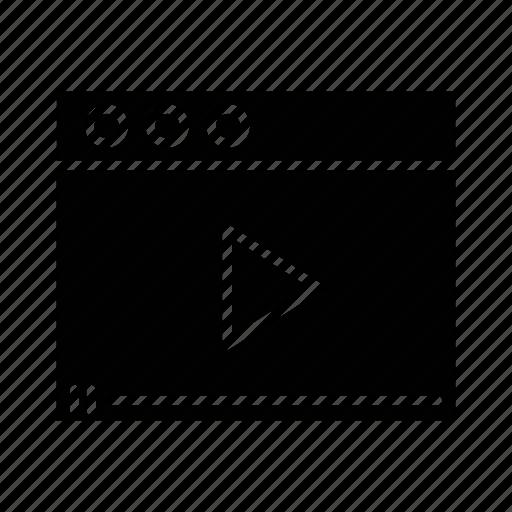 video, video window icon