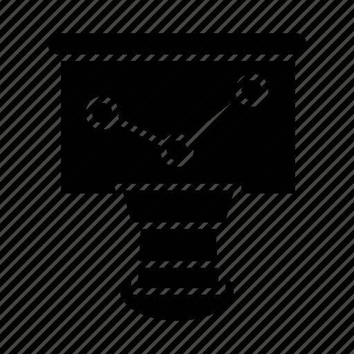 board, diagram, graph, report, search icon