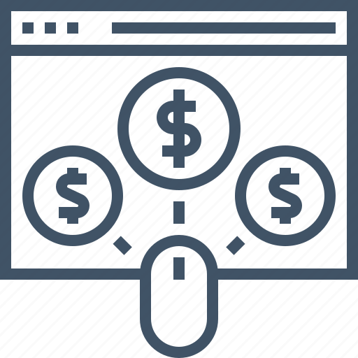 business, click, money, pay, payment, per, seo icon