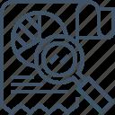 analysis, chart, optimization, report, search, seo, statistics icon