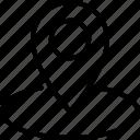 area, location, marker, pin icon icon