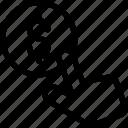 click, coin, payperclick icon icon