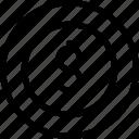 cash, coin, money icon icon