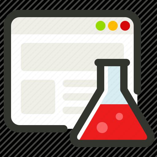 analysis, test, web, website icon