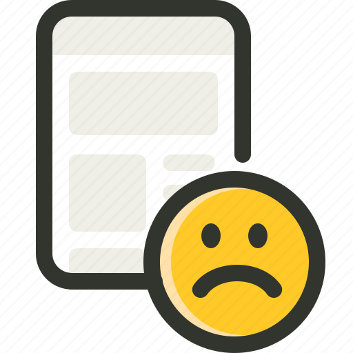bad, interface, sad, user icon