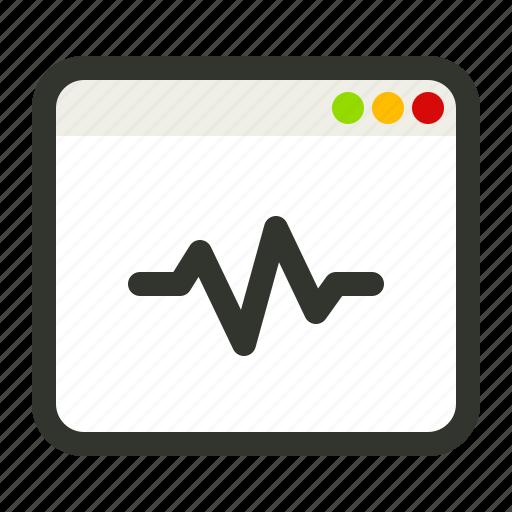 checkup, seo, site, test icon