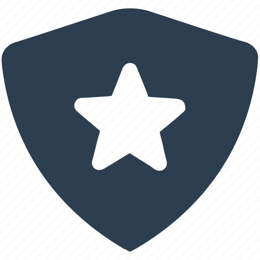 protect, secure, shield, star, top protection icon