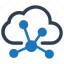 cloud, cloud network, computing, connection, network icon